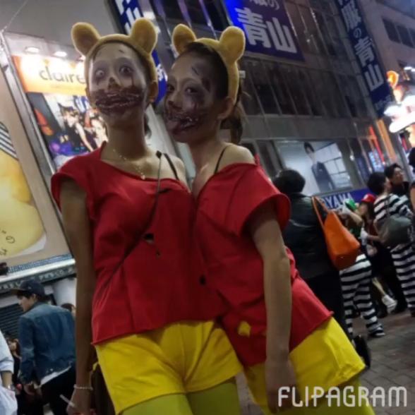 キャー! かわいい女子かと思って振り返ったらゾンビな渋谷ハロウィン仮装(笑)helloween_0046_02
