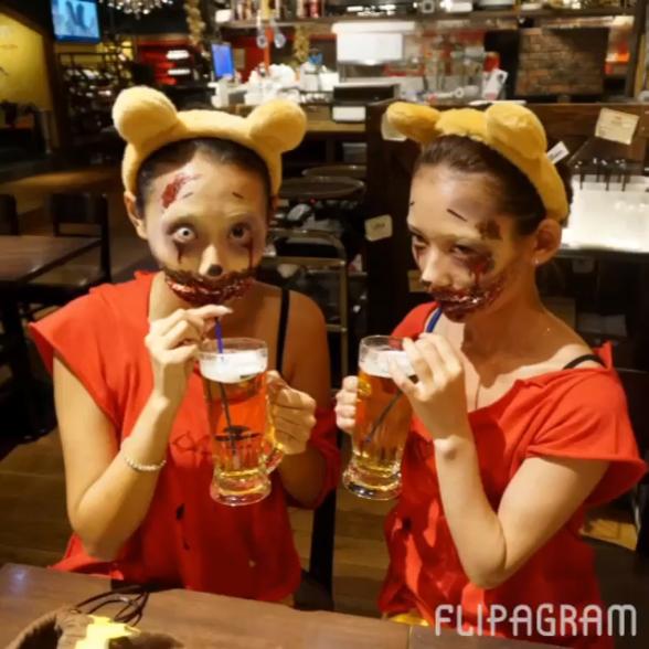 キャー! かわいい女子かと思って振り返ったらゾンビな渋谷ハロウィン仮装(笑)helloween_0046_04