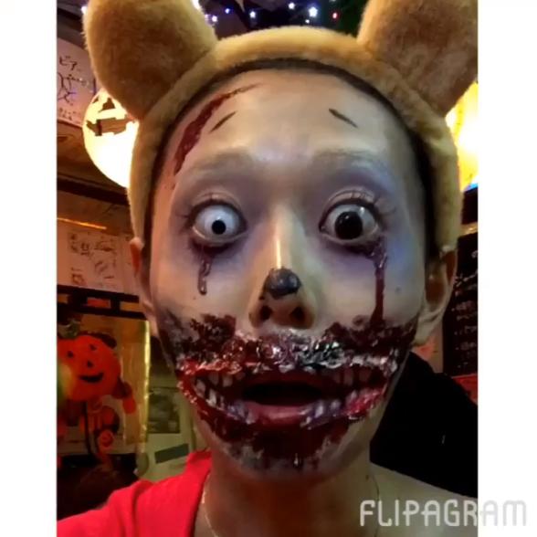 キャー! かわいい女子かと思って振り返ったらゾンビな渋谷ハロウィン仮装(笑)helloween_0046_06