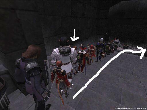 礼儀正しい! MMOオンラインゲーム内でも列を作って順番を待つプレイヤーたち(笑)internet_0016