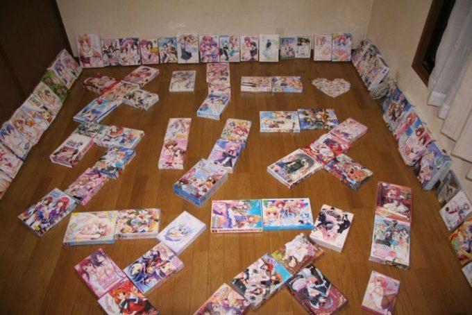 クリぼっち! オタクが成人男性向けゲームパッケージで作った「メリークリスマス」の文字(笑)christmas_0090