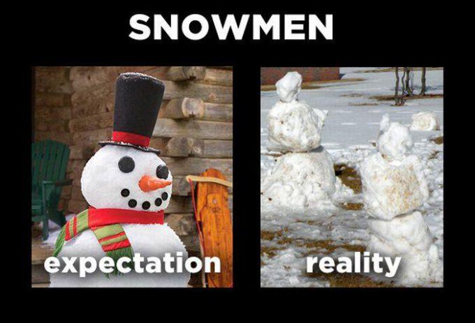 現実は悲しい! 理想の雪だるまと現実の雪だるま(笑)foreign_0110