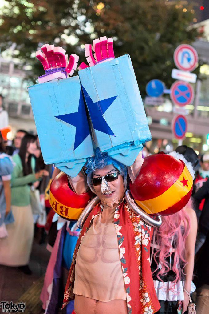 【渋谷ハロウィンおもしろ仮装画像】クオリティ高い『ONE PIECE』フランキーのハロウィン仮装をスクランブル交差点で発見(笑)halloween_0155