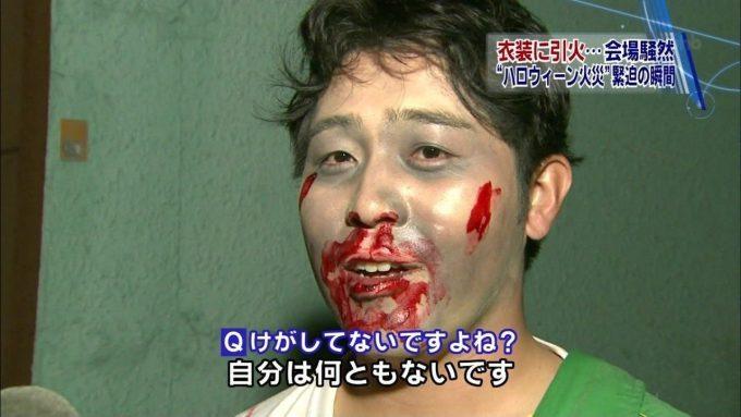 【ハロウィンのテレビ珍事件インタビューおもしろ画像】ハロウィン火災で会場から非難した人にインタビュー(笑)