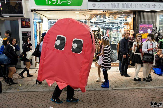 【渋谷ハロウィンおもしろ仮装画像】カオス! 渋谷センター街で『パックマン』ゲーム開始(笑)halloween_0171