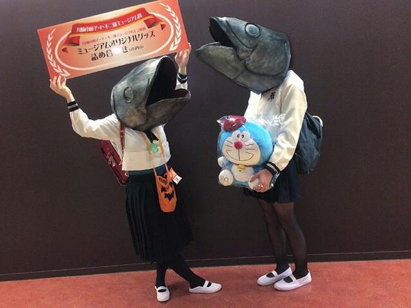 【川崎ハロウィンおもしろ仮装画像】カワハロ『ハロウィン・アワード2014』入賞、魚頭ハロウィン仮装(笑)