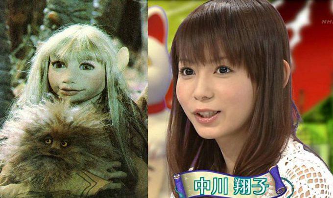 キャラクターのモデルになったのかと思うほど似ている中川翔子と『ダーククリスタル』のキーラ(笑)talent_0106