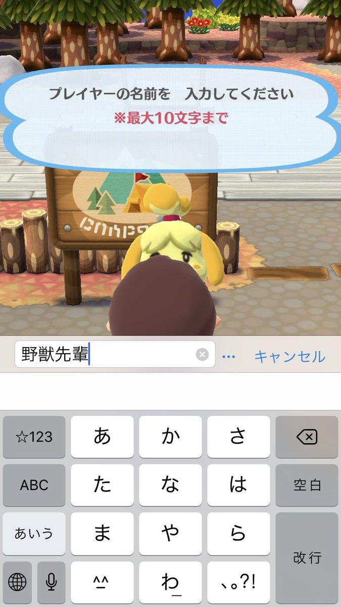 え? スマホアプリ『どうぶつの森 ポケットキャンプ』で登録できるプレイヤーの名前に矛盾(笑)animanga_0279a