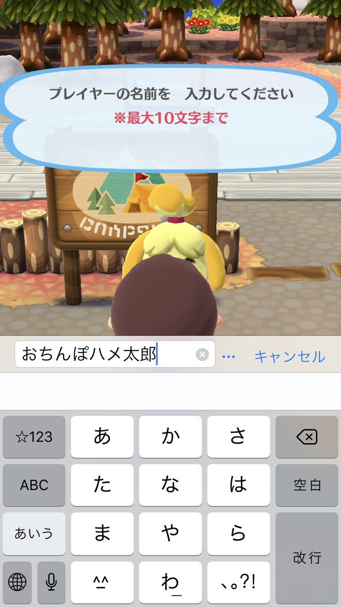 え? スマホアプリ『どうぶつの森 ポケットキャンプ』で登録できるプレイヤーの名前に矛盾(笑)animanga_0279a_02