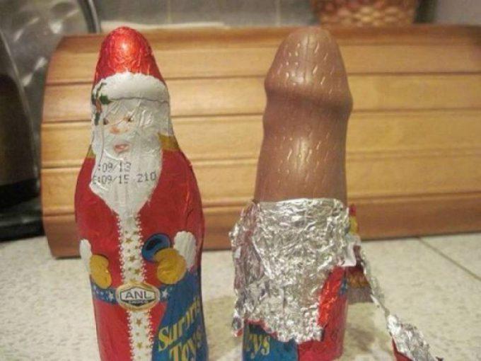 形が! サンタクロースの形をしたクリスマスチョコがどう見ても男性のアレ(笑)christmas_0084