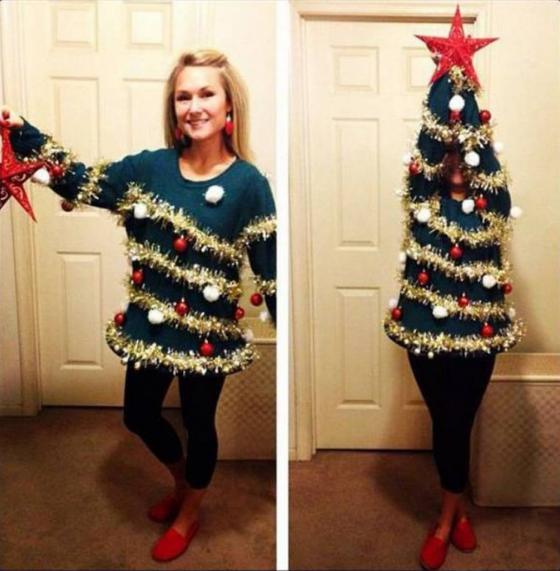斬新な発想! いつでもクリスマスツリーに変身できるクリスマスファッション(笑)christmas_0106