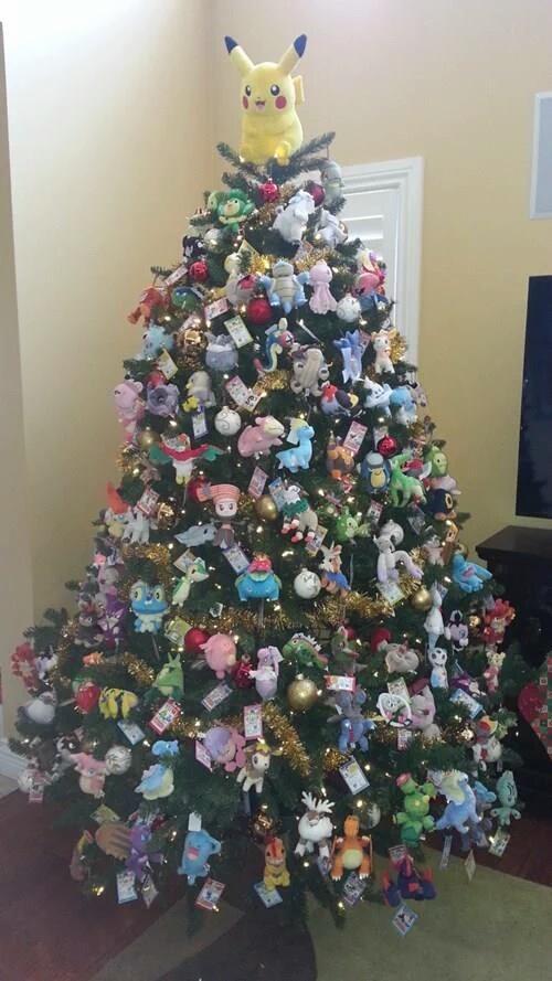 ポケモン好きにはたまらない、ポケモンキャラクターを飾り付けたクリスマスツリー笑christmas_0100