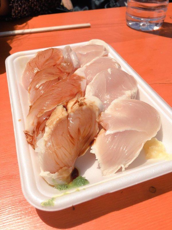 肉フェスお台場2016春のハーブチキンささみ寿司
