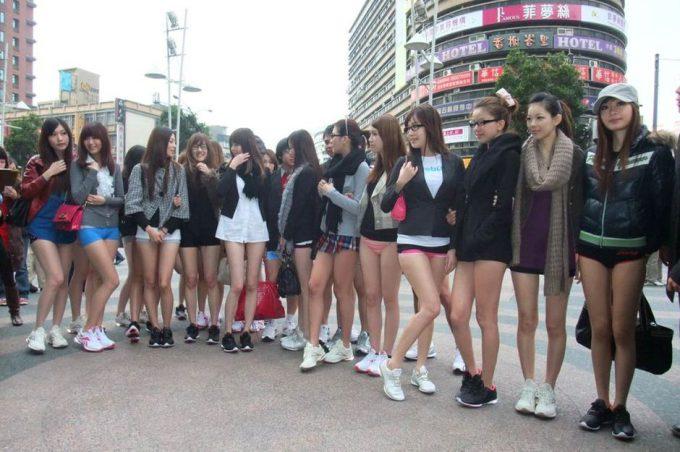 台湾のノーパンツサブウェイライドの模倣foreign_0125_23