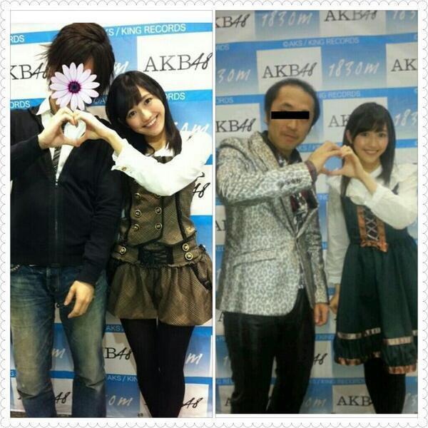 ファン差別! 撮影会でイケメンとハゲたおじさんへの対応が違いすぎるAKB48渡辺麻友(笑)talent_0098