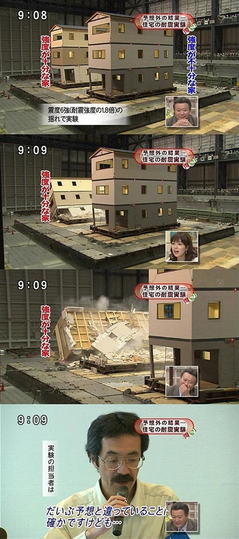 予想外! 住宅の耐震実験を行ったら予想外のテレビハプニング(笑)tvmovie_0151