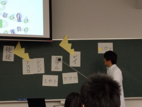 え? 学校の授業で『エヴァンゲリオン』のキャラクターで説明を行う先生(笑)animanga_0128