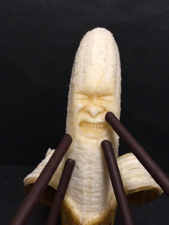 バナナ彫刻作品
