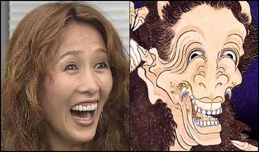 鬼? 工藤静香と日本画の化け物絵図に出てきそうな鬼が完全に一致(笑)talent_0113