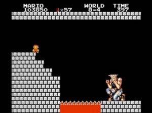 無理! 『スーパーマリオブラザーズ』の最終ステージしょっぱなに待ち受けるガイル(笑)game_0012