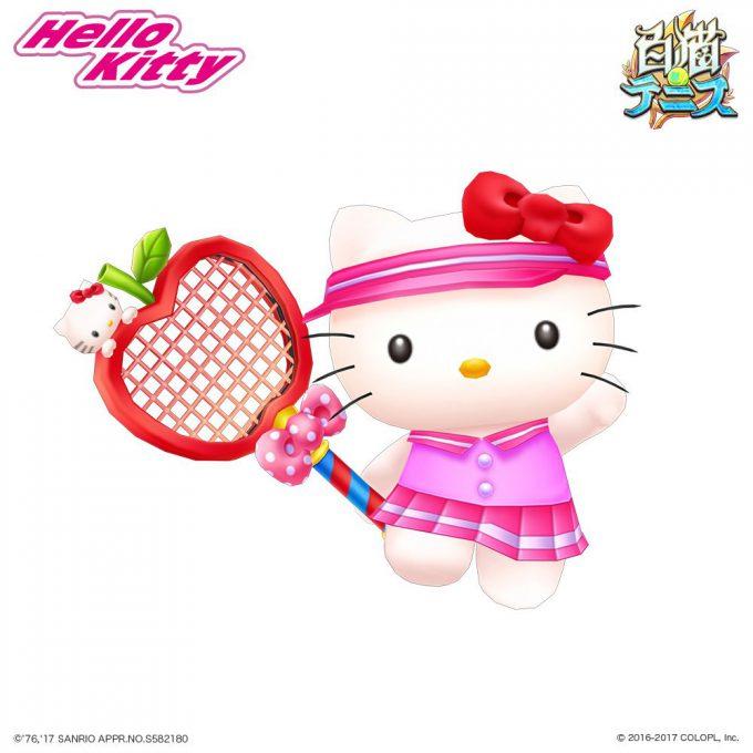 『白猫テニス』のアプリ1周年の記念企画で登場したハローキティgame_0024_15