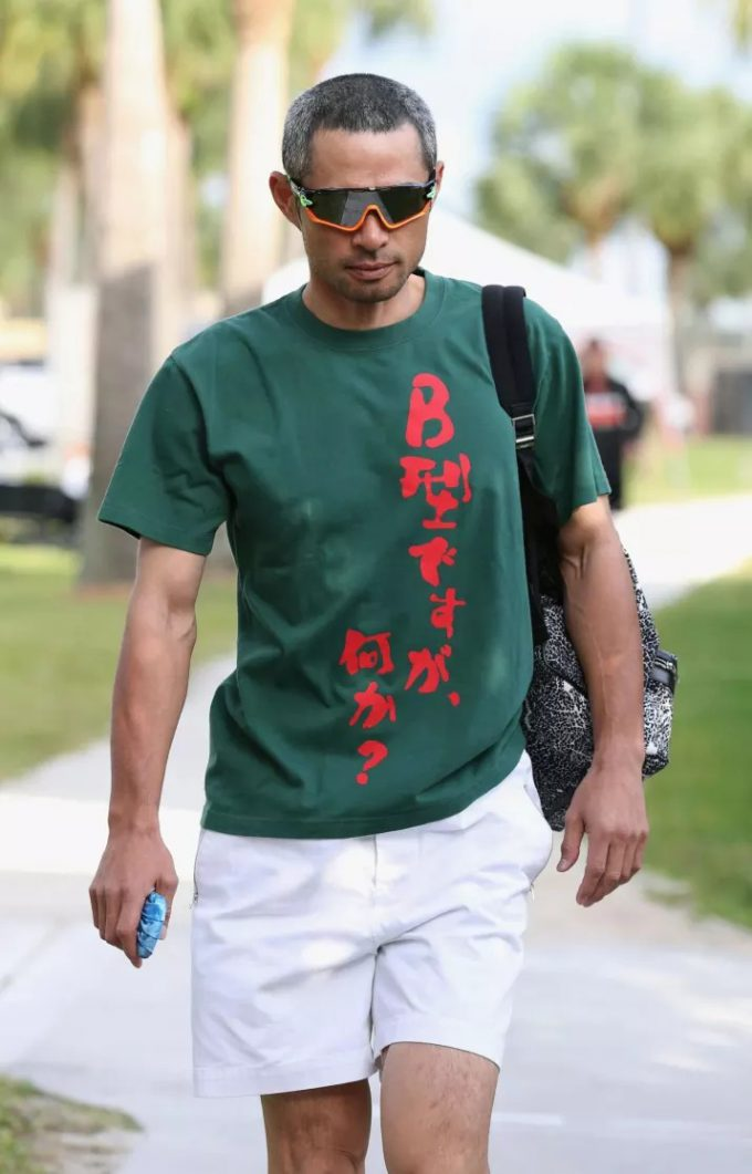 悟空? イチローの着ているTシャツに書かれている文字がおもしろい(笑)talent_0105_01