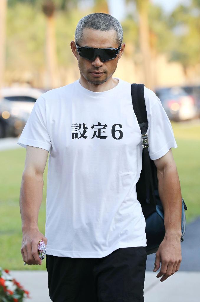 悟空? イチローの着ているTシャツに書かれている文字がおもしろい(笑)talent_0105_04