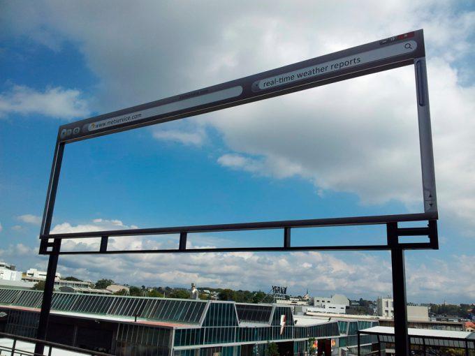 貼り忘れ? ニュージーランド気象予報サイト『metservice.com』の斬新な発想の看板広告(笑)