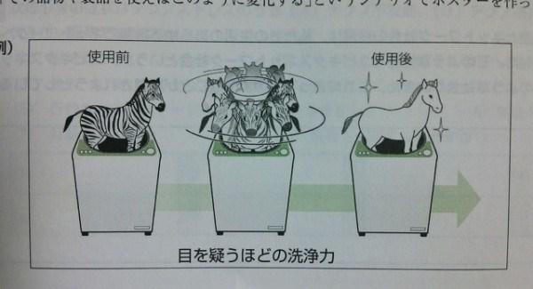 目を疑う! シマウマを洗濯機に入れちゃう教科書の挿絵が意味不明だけどおもしろい(笑)