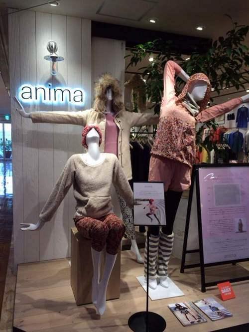 運動? ファッションブランド『anima(アニマ)』の店頭マネキンのポーズがおかしい(笑)