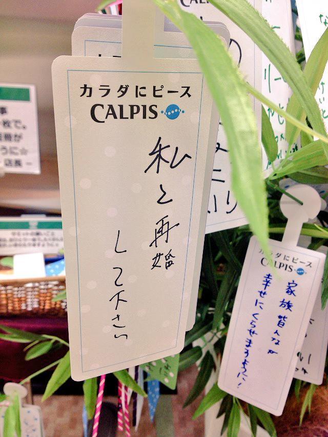 お願い! カルピスの七夕短冊奉納で見かけたバツありの女性が書いた願いごと(笑)
