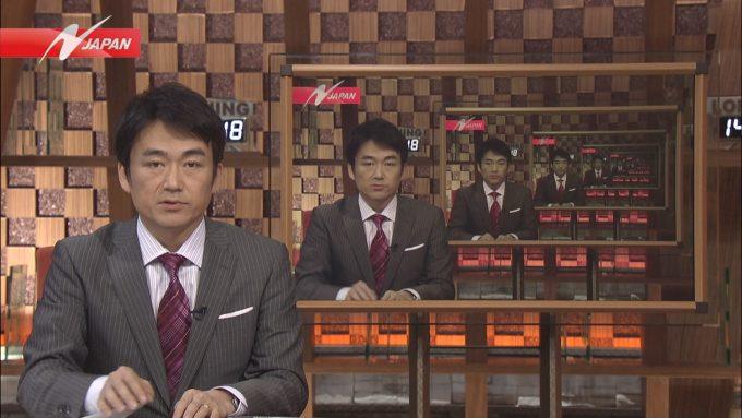 【テレビ放送事故おもしろ画像】『ニュースJAPAN』で放送された合わせ鏡の放送事故ハプニング(笑)