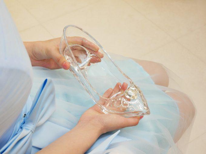 なかむら硝子工房のガラスの靴