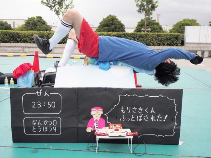 コスプレイヤーのネオのファミコンの『キャプテン翼 』森崎君のコスプレ