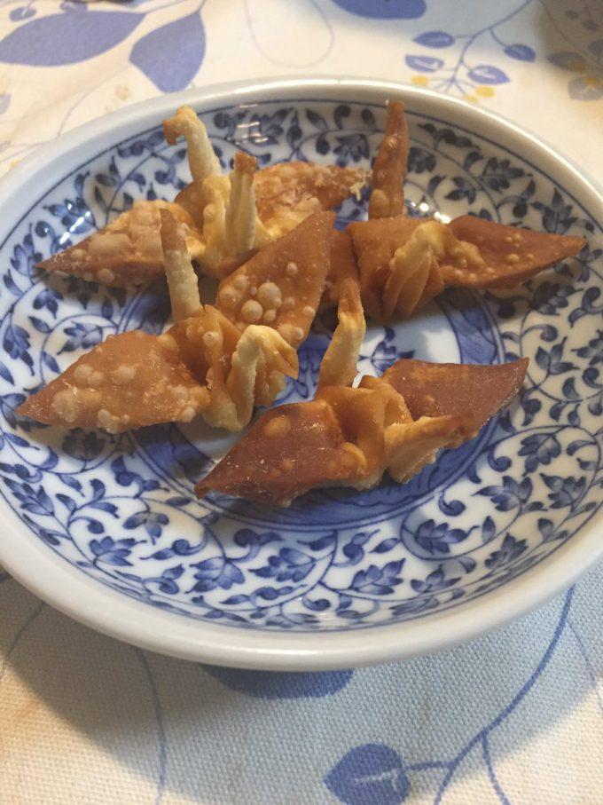 【食べ物おもしろ画像】うまい! 父親が余ったシュウマイの皮で作った折り鶴が美味しそう(笑)