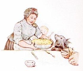 マグレガーさんの奥さんに調理されてパイになったピーターのお父さん