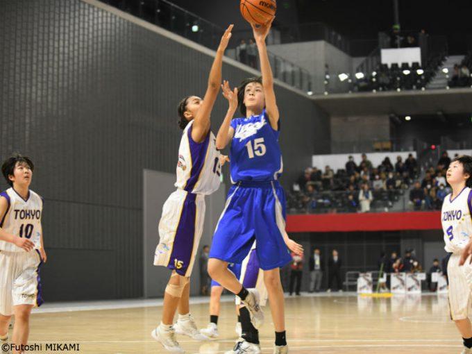 第32回都道府県対抗ジュニアバスケットボール大会2019に出場した福王伶奈