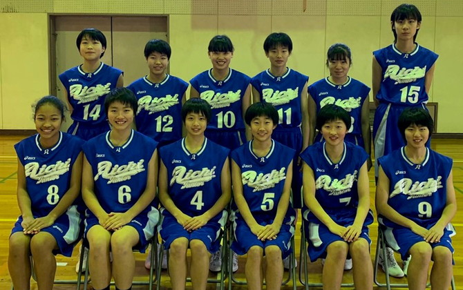 第32回都道府県対抗ジュニアバスケットボール大会2019に出場した女子愛知