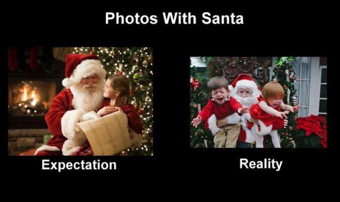 切ない! サンタクロースと子どものふれ合いの理想と現実が悲しすぎ(笑)