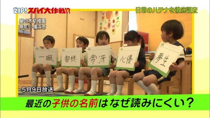読めない! 室の木幼稚園児いまどきの子どものキラキラネームが読めなさすぎます(笑)