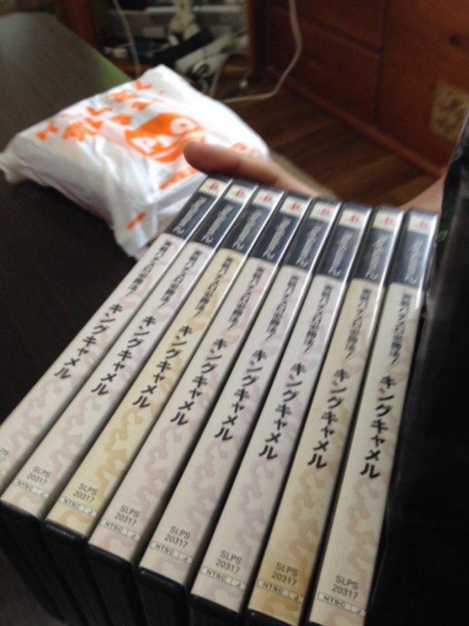 福袋に入っていたスロットゲームキングキャメル8本