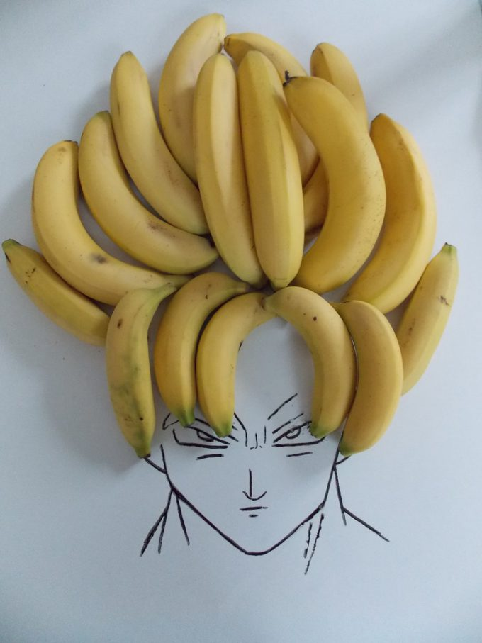 オラ悟空! バナナ頭の悟空が完全にスーパーサイヤ人(笑)