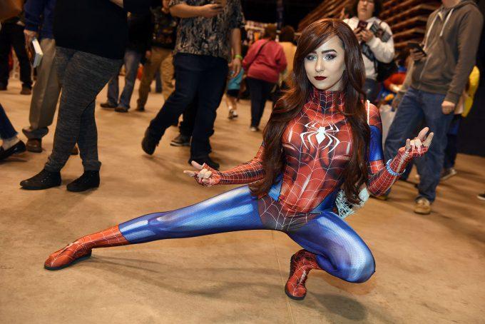 レベル高! ウィザードワールドコミコン2018で見かけたスパイダーガールコスプレ(笑)