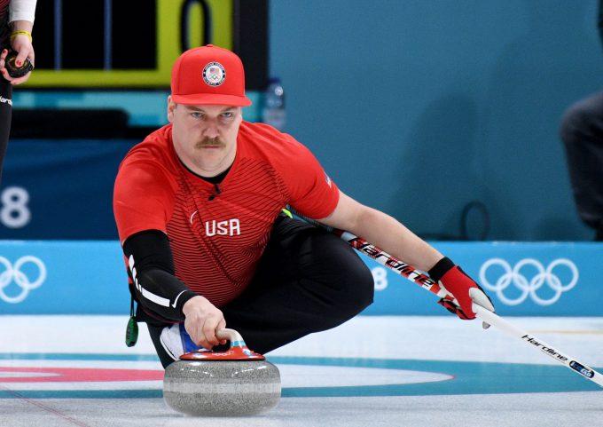 2018年平昌オリンピックに出場したアメリカ代表カーリングチームのマット・ハミルトン選手