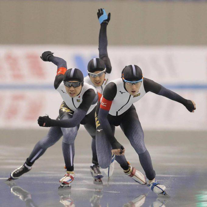 忍法! 2018平昌オリンピックで男子スピードスケート選手の分身の術(笑)
