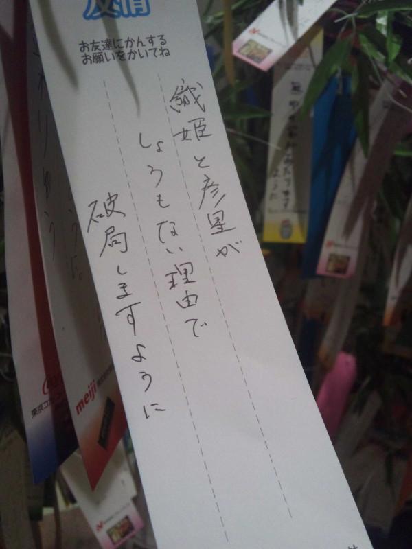 どんな理由で? 七夕短冊で織姫と彦星に向けて書いた願いごと(笑)