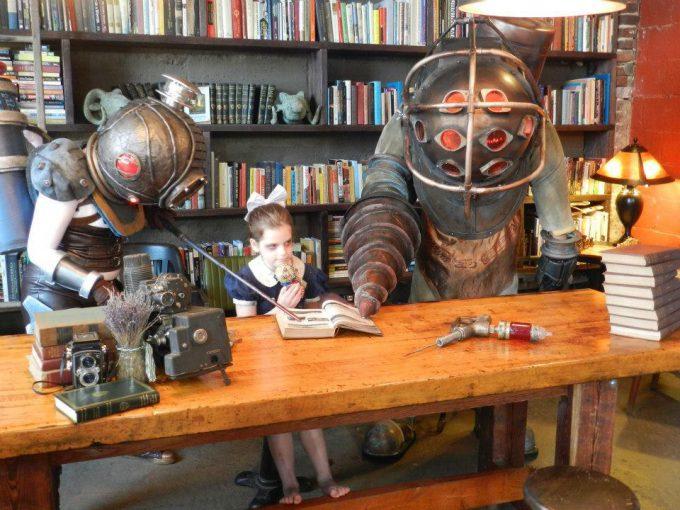 『BioShock』のビッグダディ&リトルシスターコスプレ