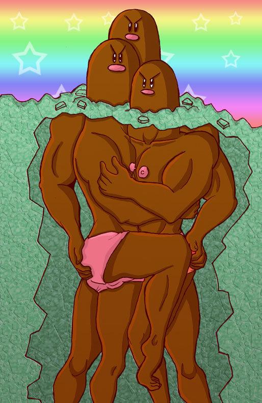 正体! ポケモン「ダグトリオ」の地面の下を描いたイラストにびっくり(笑)
