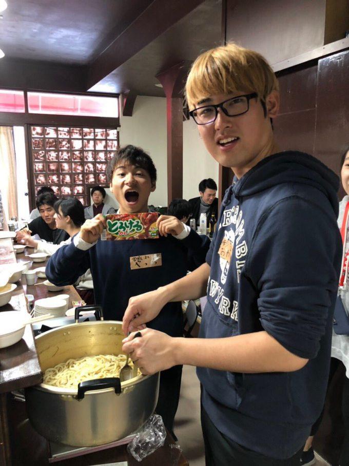 東北学生稲門会の芋煮会