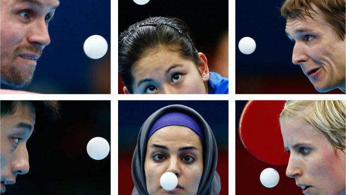 集中! 2012ロンドンオリンピック卓球で球に集中する選手たちの表情(笑)